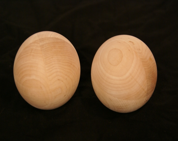 Pair of unfinished wood balls